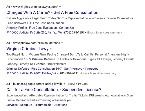 Lawyer SEO PPC Ads